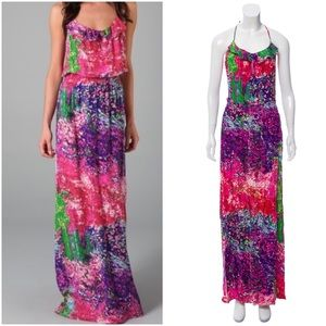 Parker Multicolor Silk Maxi Dress